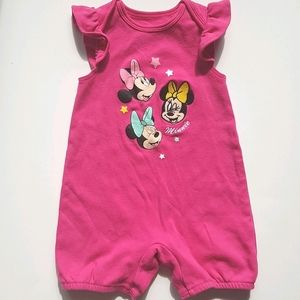 DISNEY BABY Minnie Mouse Romper 24 Months
